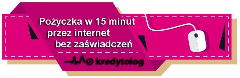 Pożyczka w 15 minut przez internet bez zaświadczeń